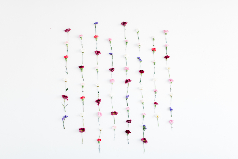 Floral wall backdrop DIY