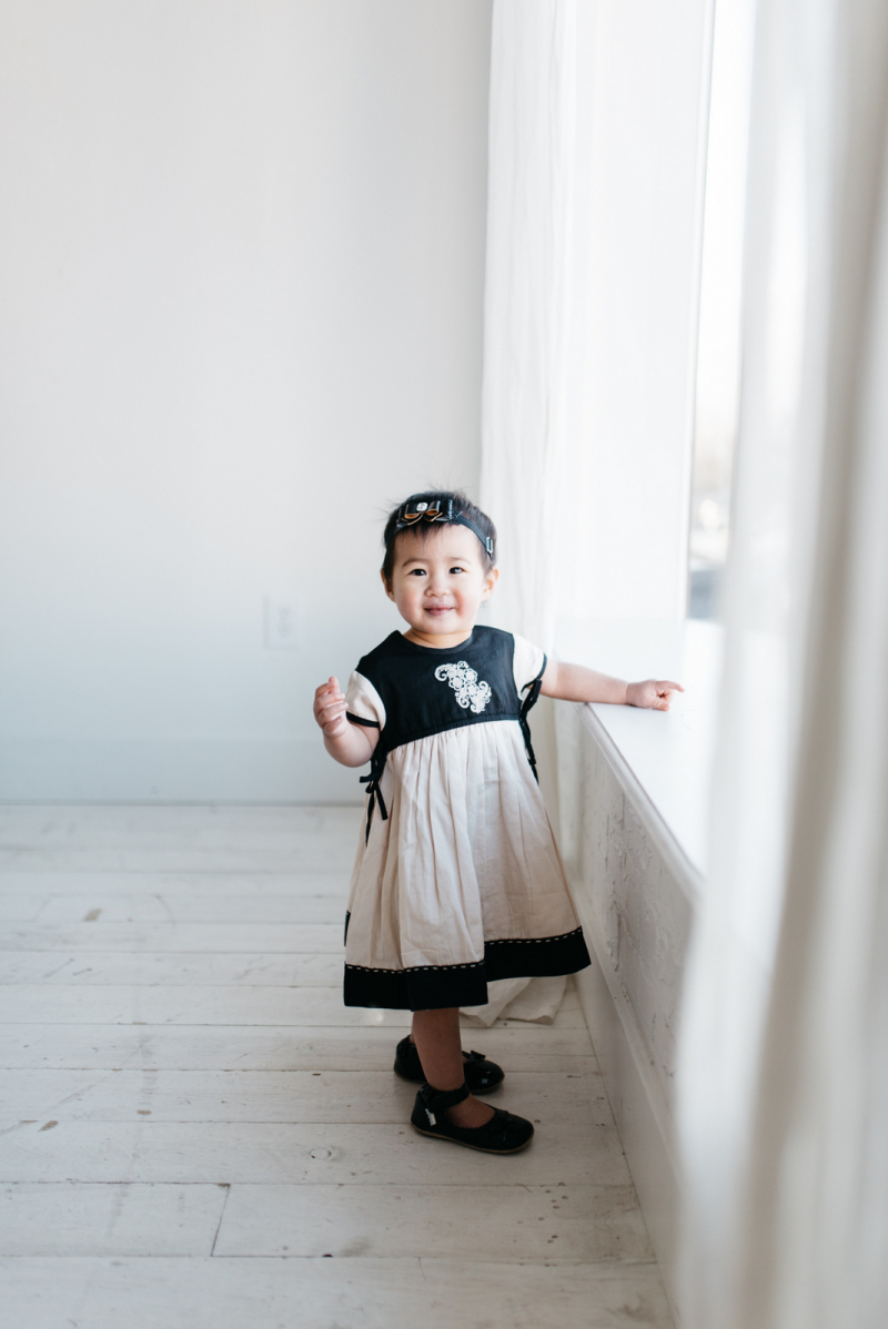 Gentille Alouette dress on baby girl