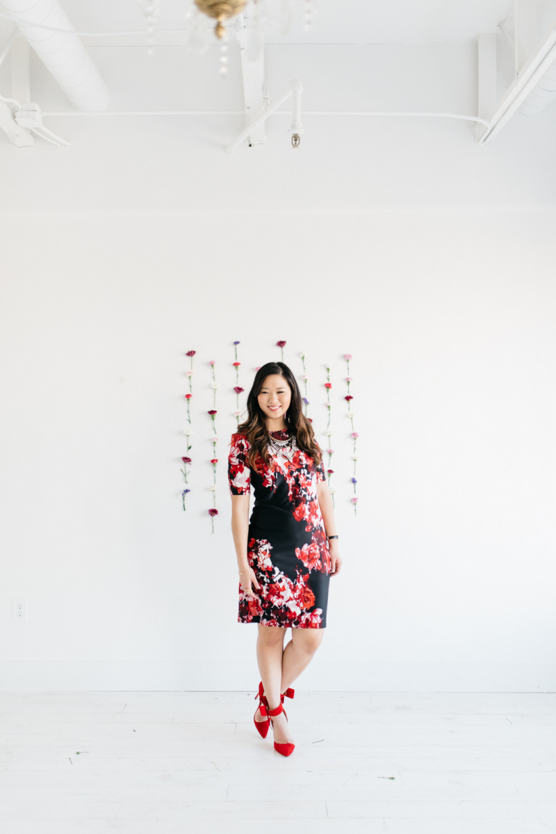 Floral wall backdrop for photos