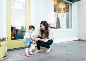 Mommy and Me Style: Lace Halftees and Trouser Skirts
