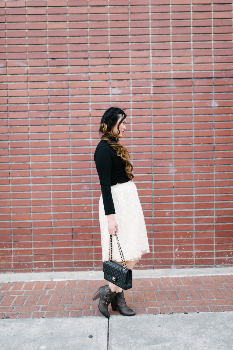 How to style a turtleneck to be dressy