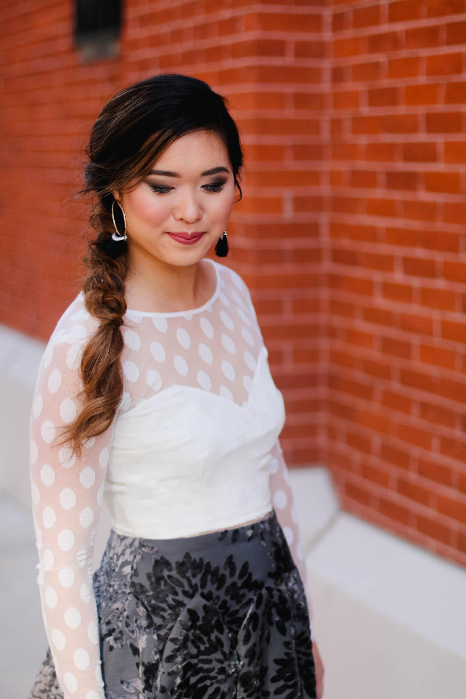 Side braid style
