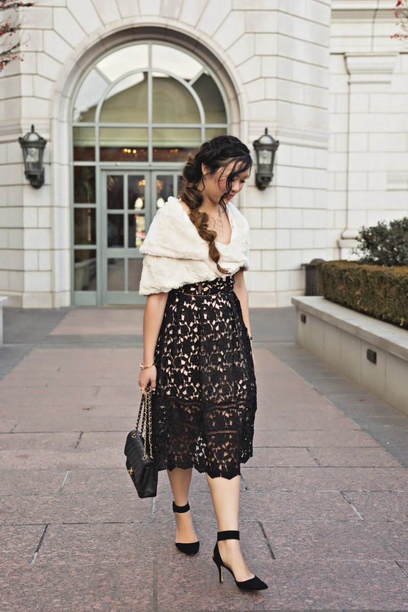 Lace and Fur outfit