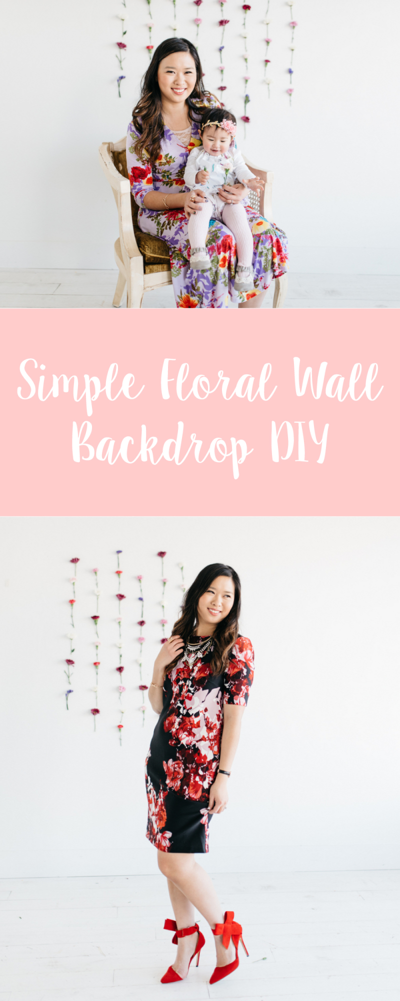 Simple Floral Wall Backdrop DIY