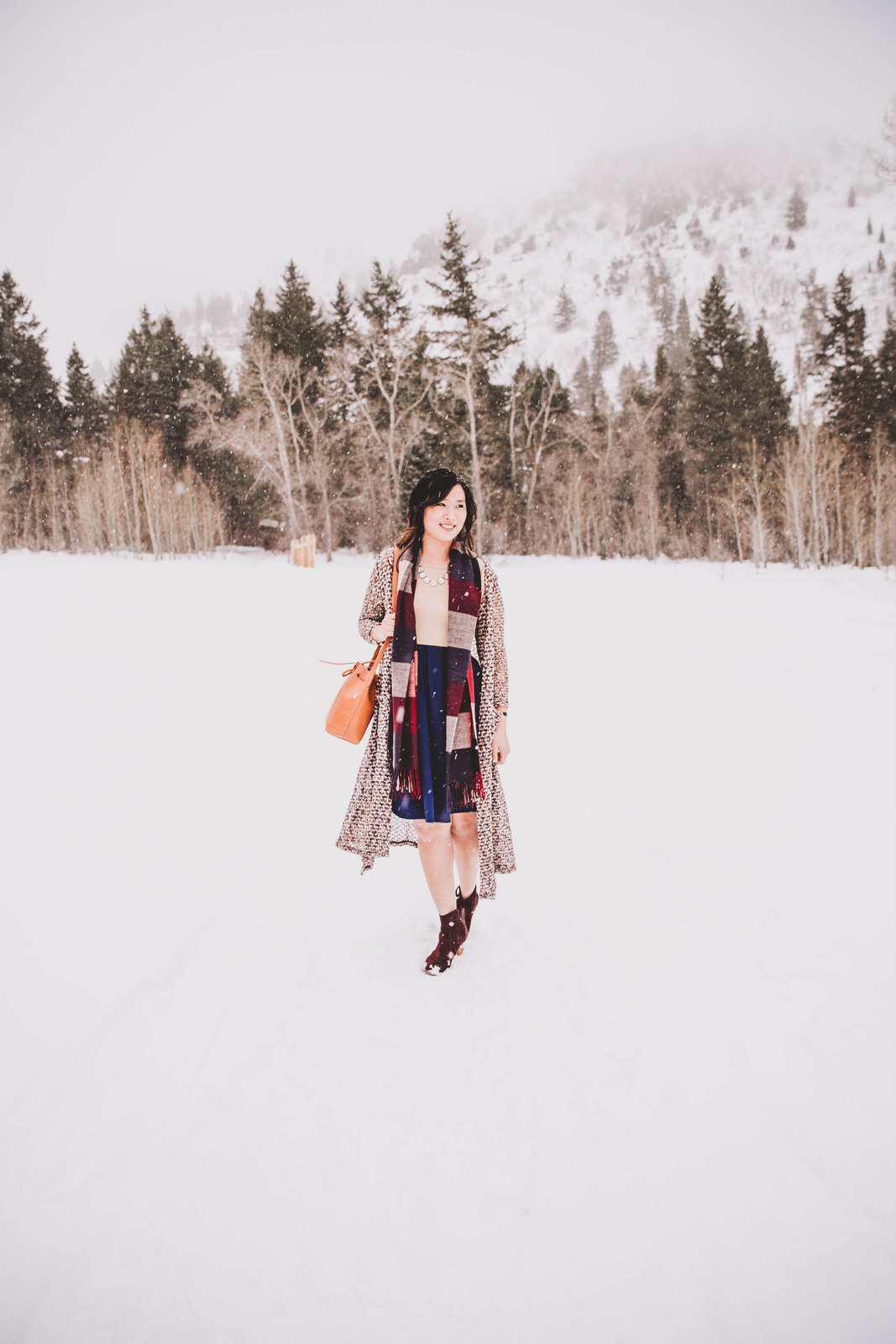 How to layer with a LulaRoe Ameila dress