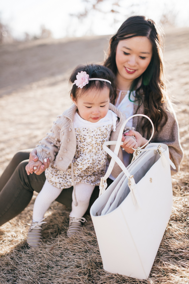 Mommy and me neutral outfit