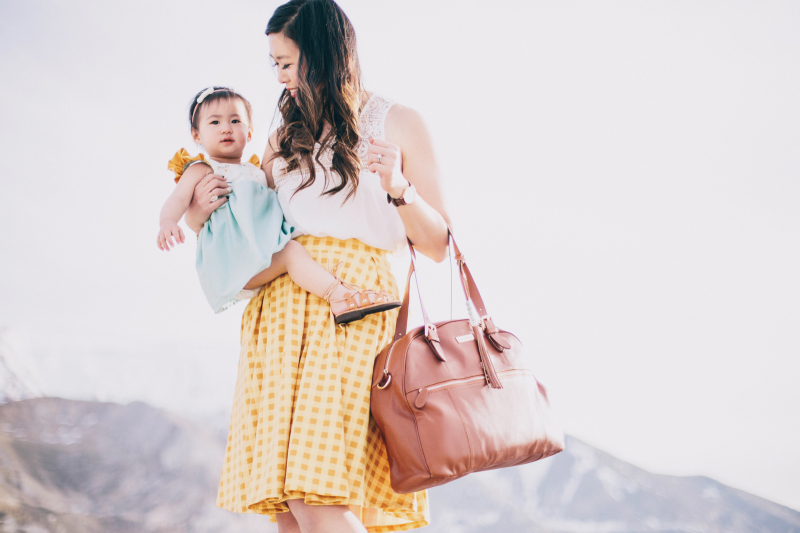 Mommy carrying Lily Jade bag