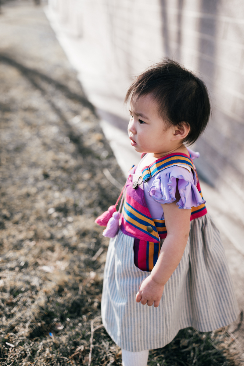 Toddler girl wearing Nena & Co. dress