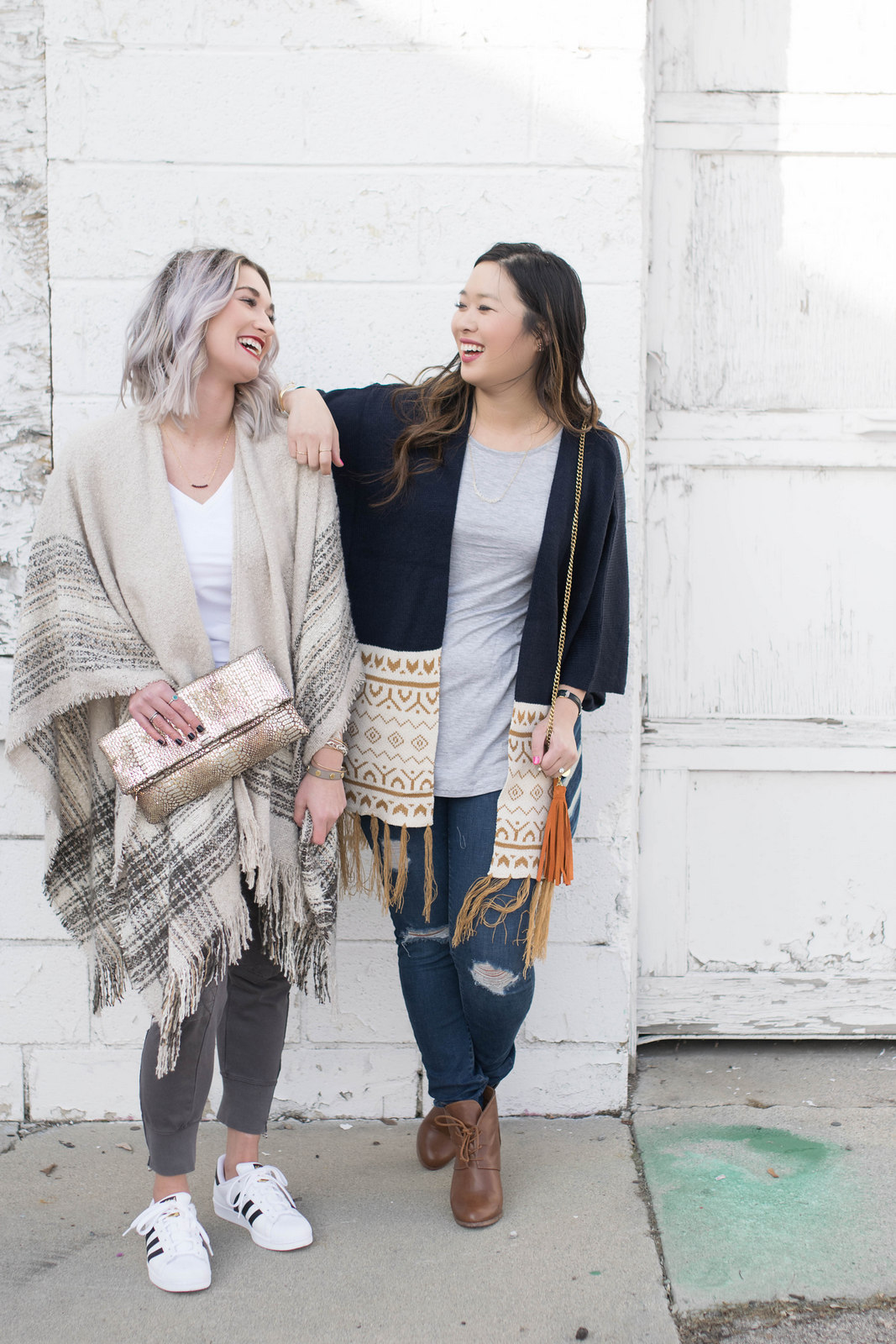 Two ways to style an oversized kimono