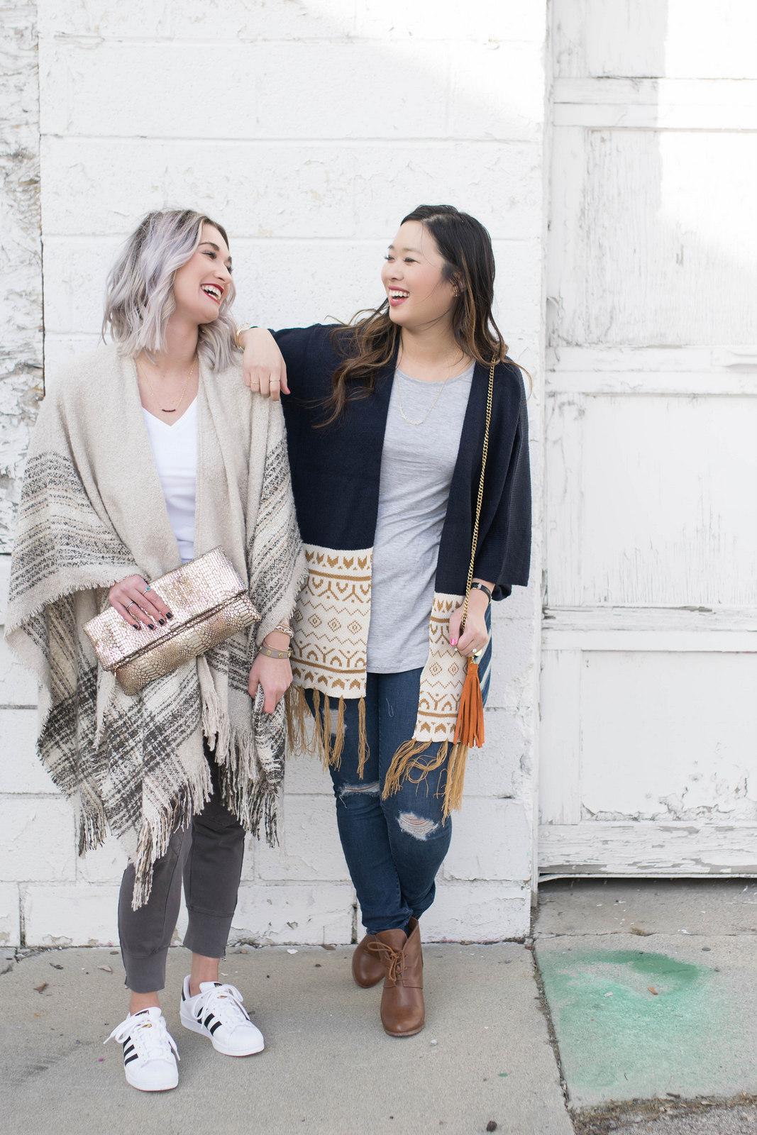 Two ways to style an oversized kimono