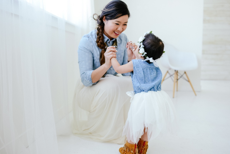 Mommy and Me Style with Chambray and Tulle)