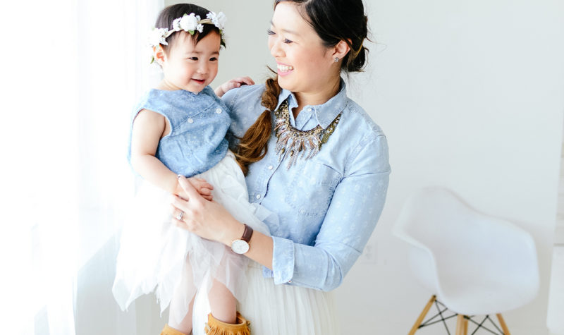 Mommy and Me Style: Chambray and Tulle + Linkup!