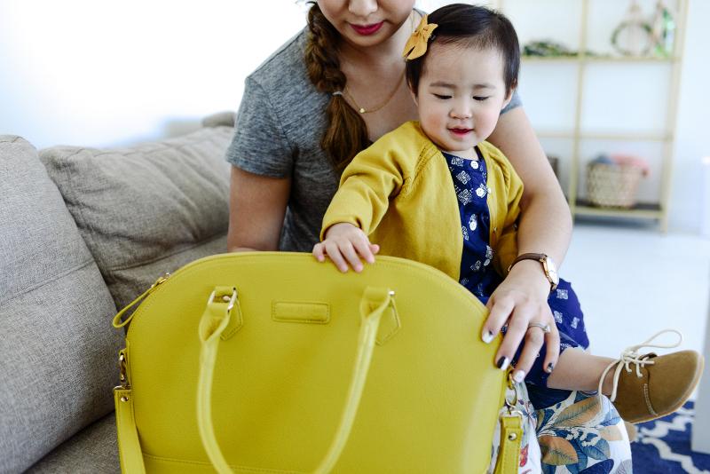 Coco and Kiwi yellow bag