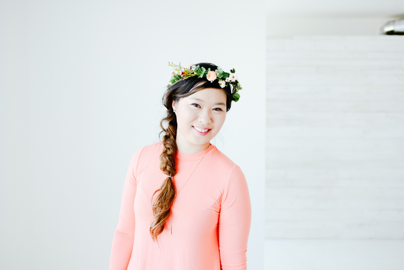 How to style a floral crown