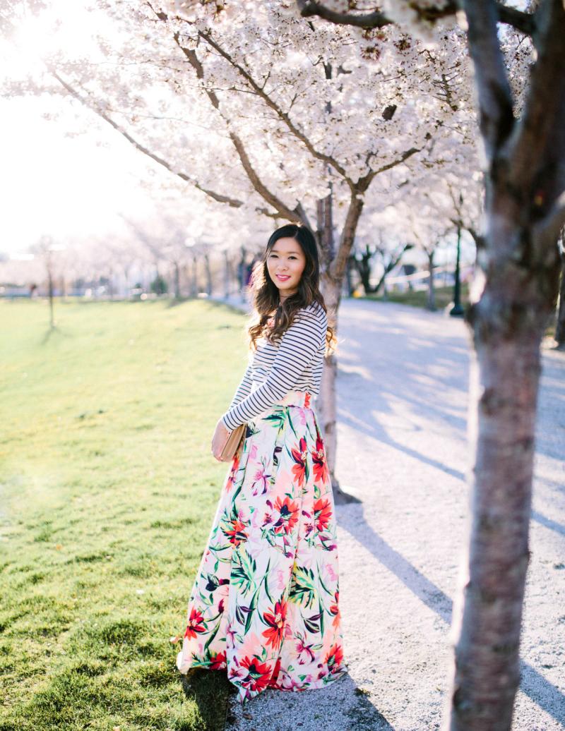 Eliza J Floral Skirt