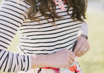 Stripes and Florals + Linkup!