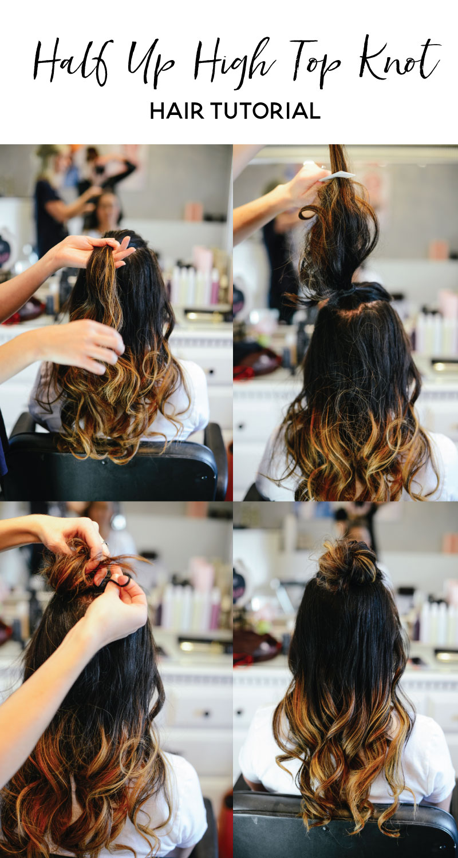 Half-Up-High-Top-Knot-Hair-Tutorial