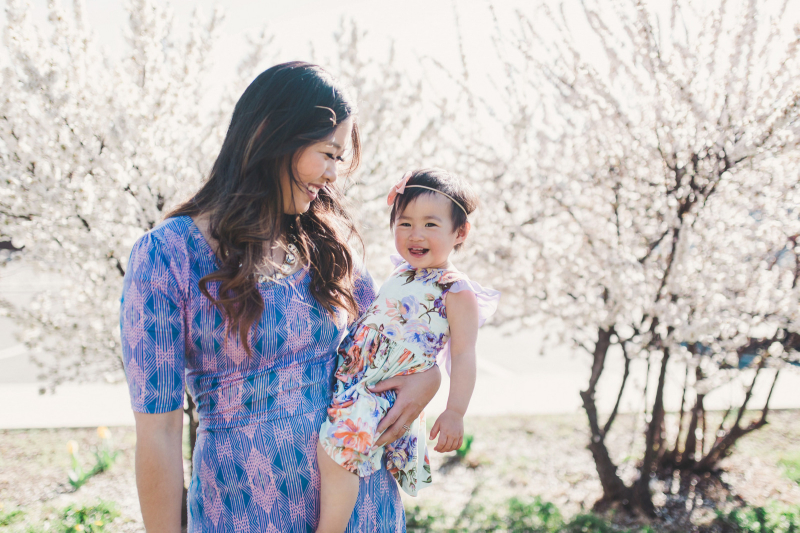 Mommy and me style summer purples