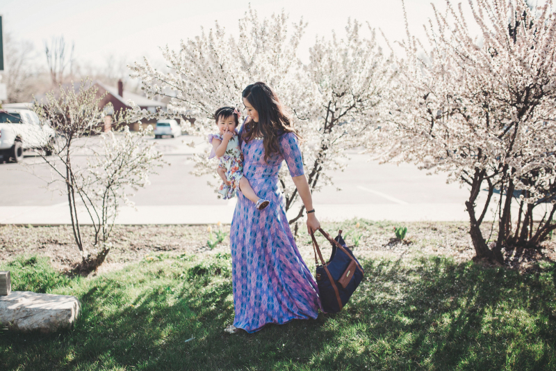 Mommy and me with Lily Jade bag