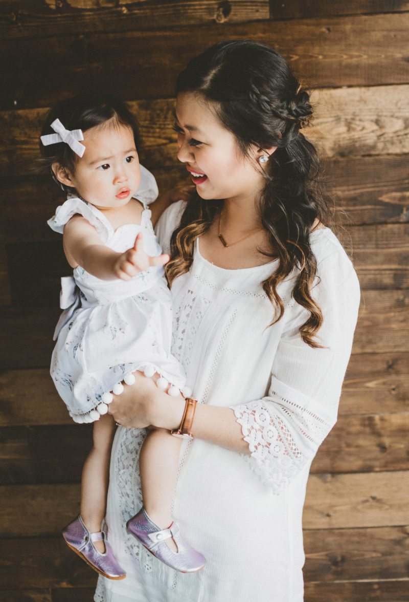 Mommy and Me White Dresses