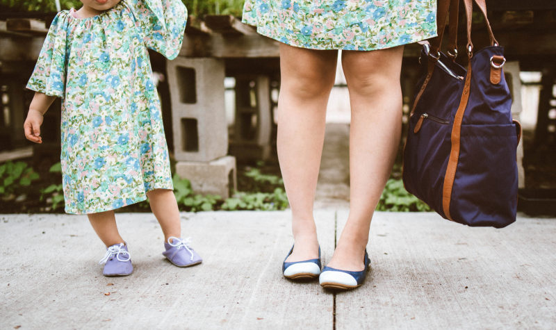 Mamas and Minis Style: Twinning Floral Dresses and Flats
