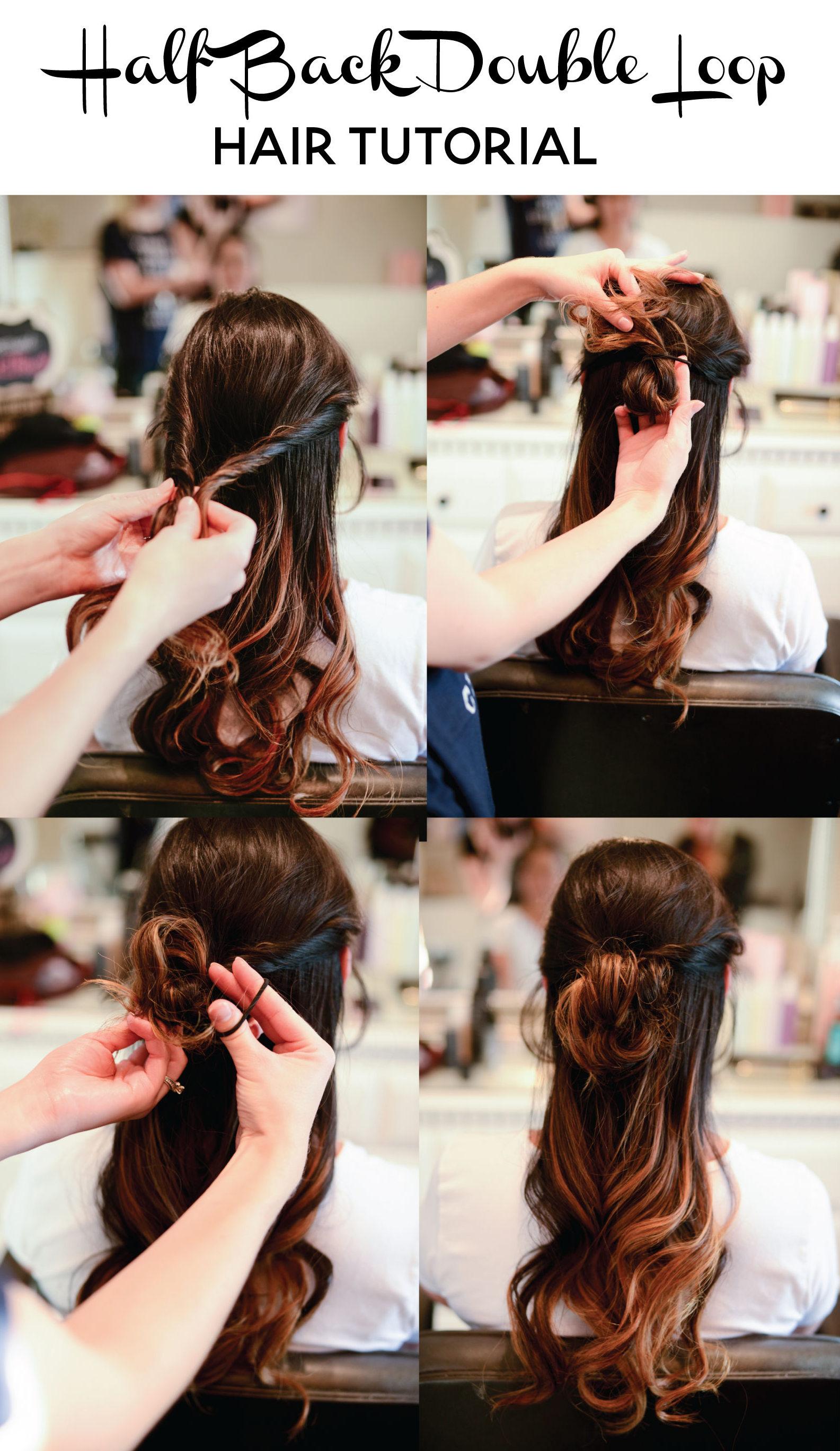Half Back Double Loop Hair Tutorial