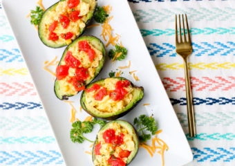 Scrambled Egg Avocado Boats