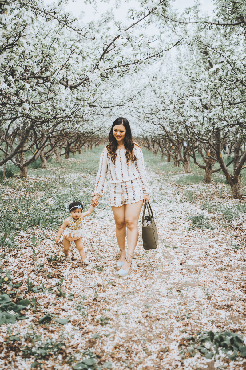 Mom and daughter styling rompers
