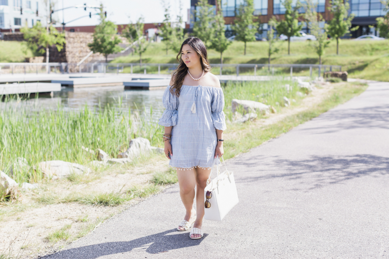 Casual Summer Outfit with Pearls