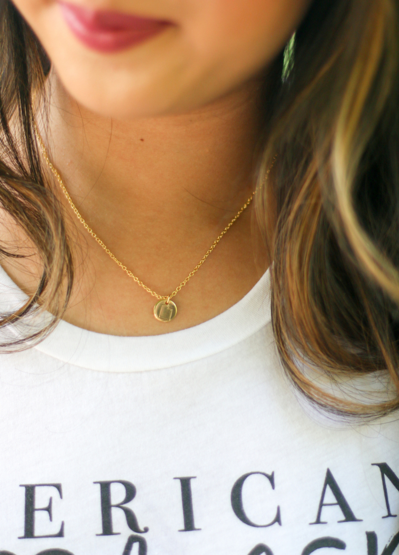 The Dainty Pear Utah necklace