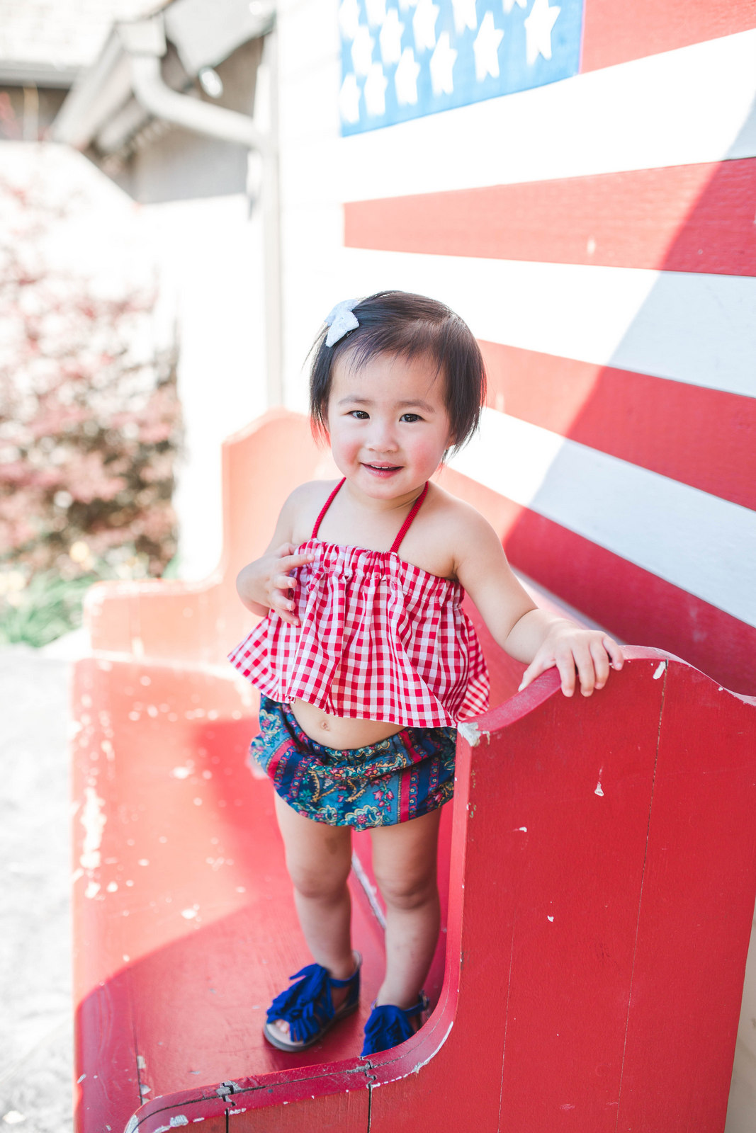 Red, White and Blue Toddler Girl outfit