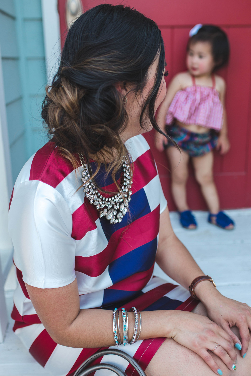 Mommy and Me Style: Red, White and Blue