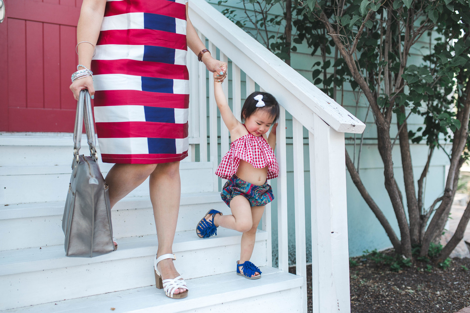 Mommy and me red, white and blue fashion