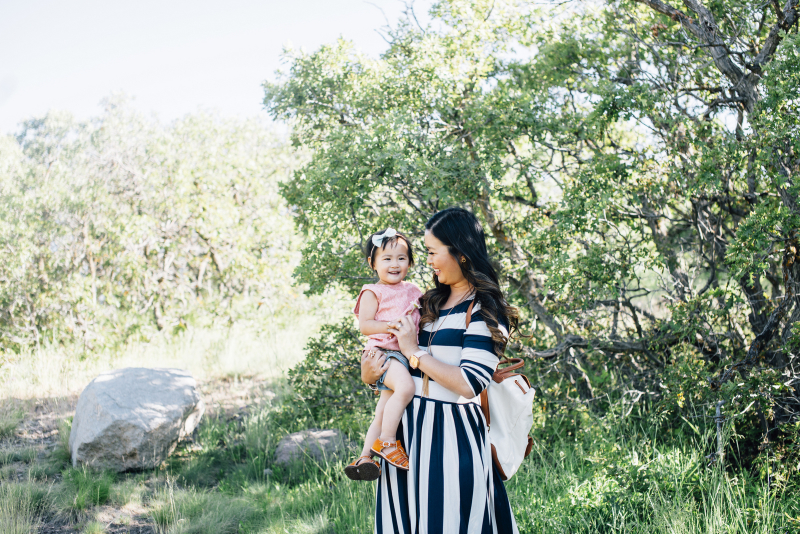 Mommy and me style: How to wear stripes