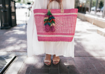 Pom Pom Maxi and Pink Tote + Linkup!