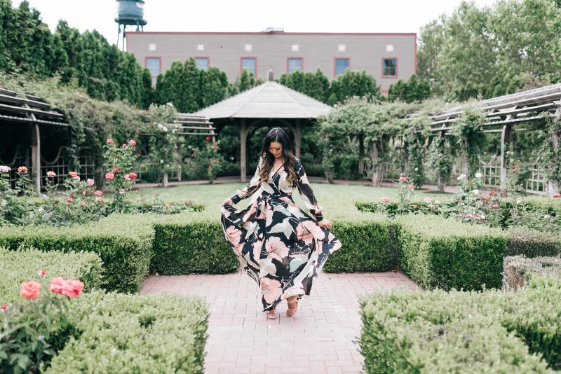 Roolee Floral Maxi Dress