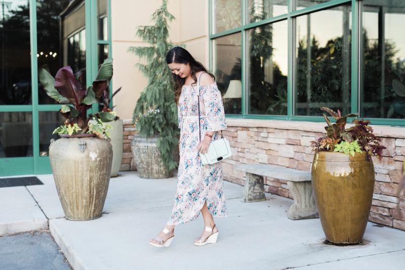 How to style an off the shoulder dress