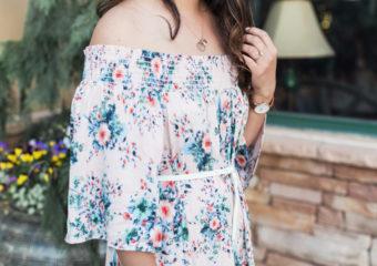 Floral Off The Shoulder Dress + Linkup!