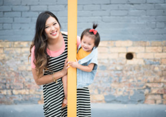 Mommy and Me Style: Stripes and Layering