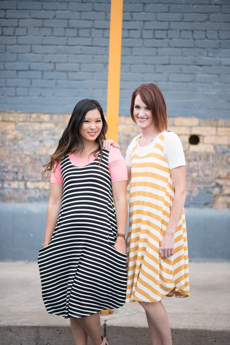 Coordinating swing dresses