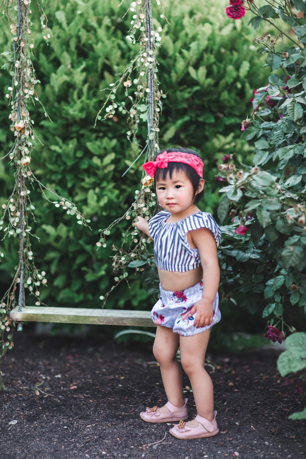 Toddler girl wearing LUNAFLECTco