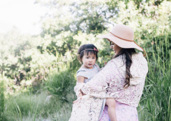 Mommy and Me Style: Floral Print Dresses and Layers + Linkup!