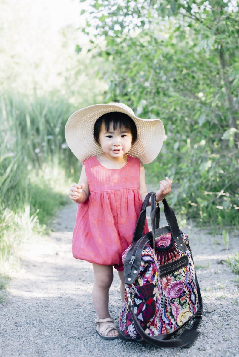 Toddler girl wearing Mikoleon Kids and Nena & Co.