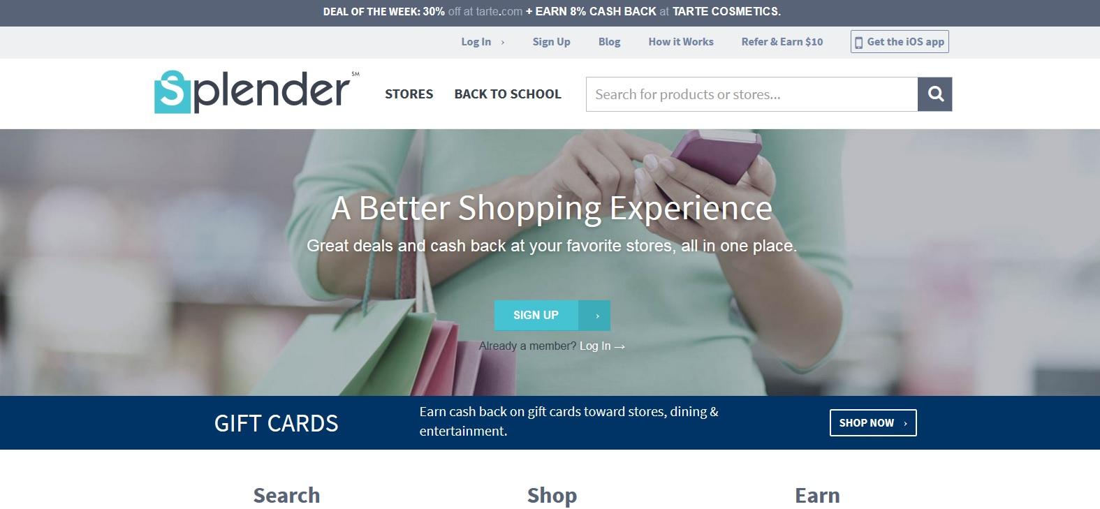 splender home page