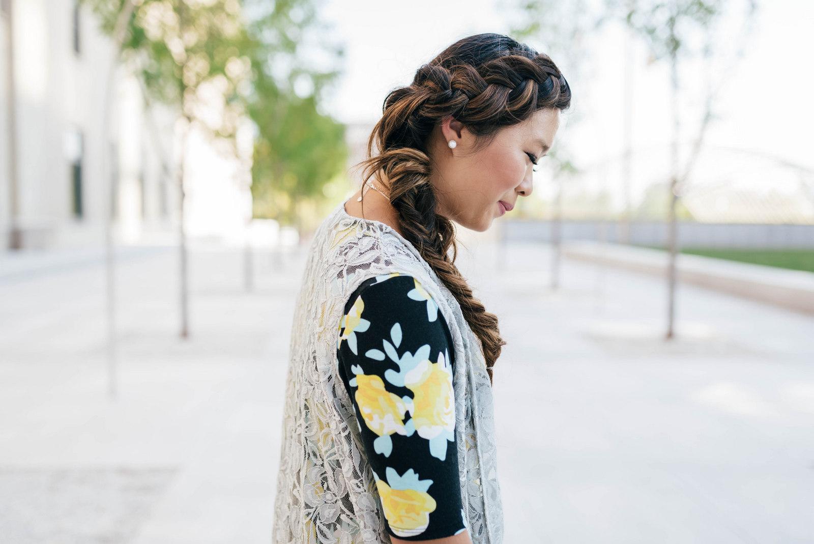 Side braid hairstyle