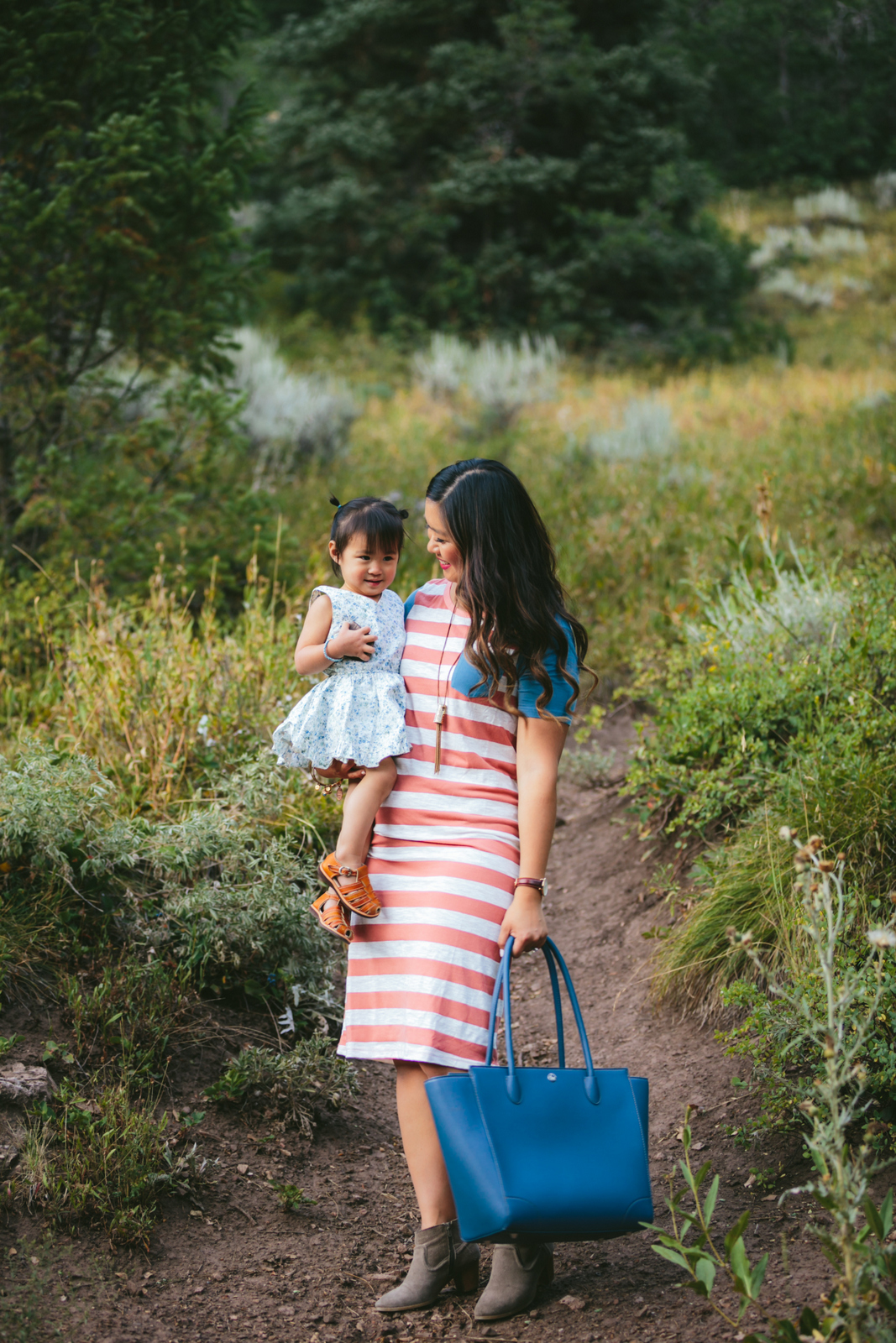 Mommy and me fashion: stripes and florals