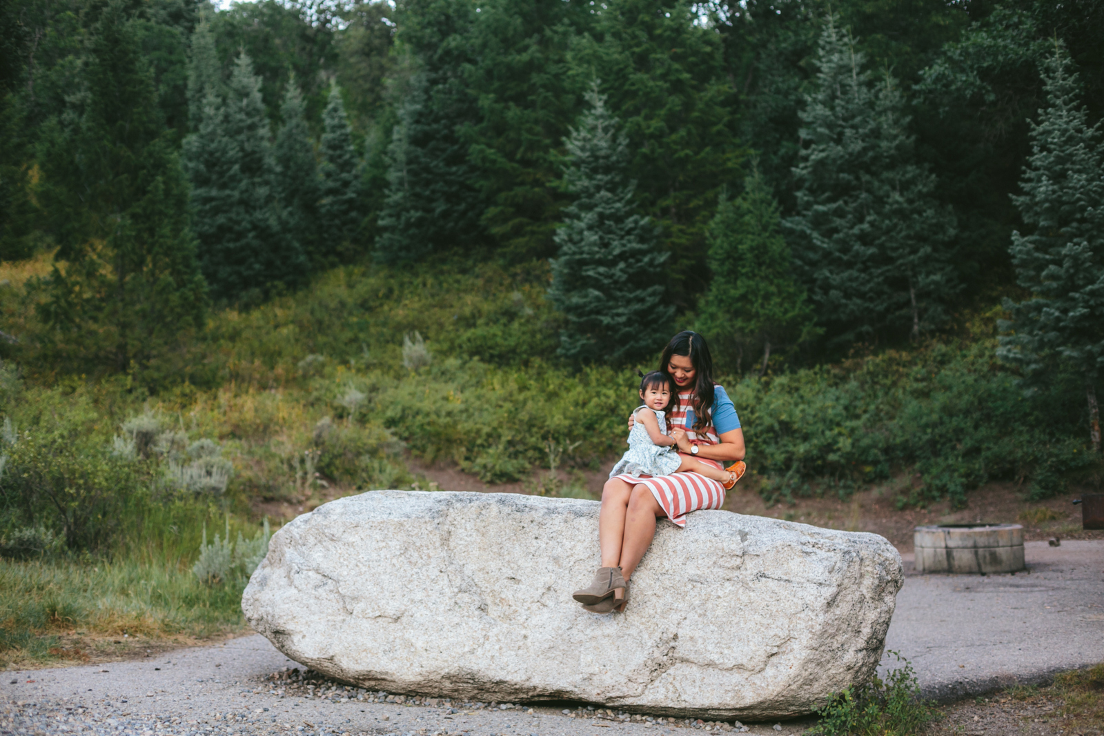 Family photos at Tibble Fork