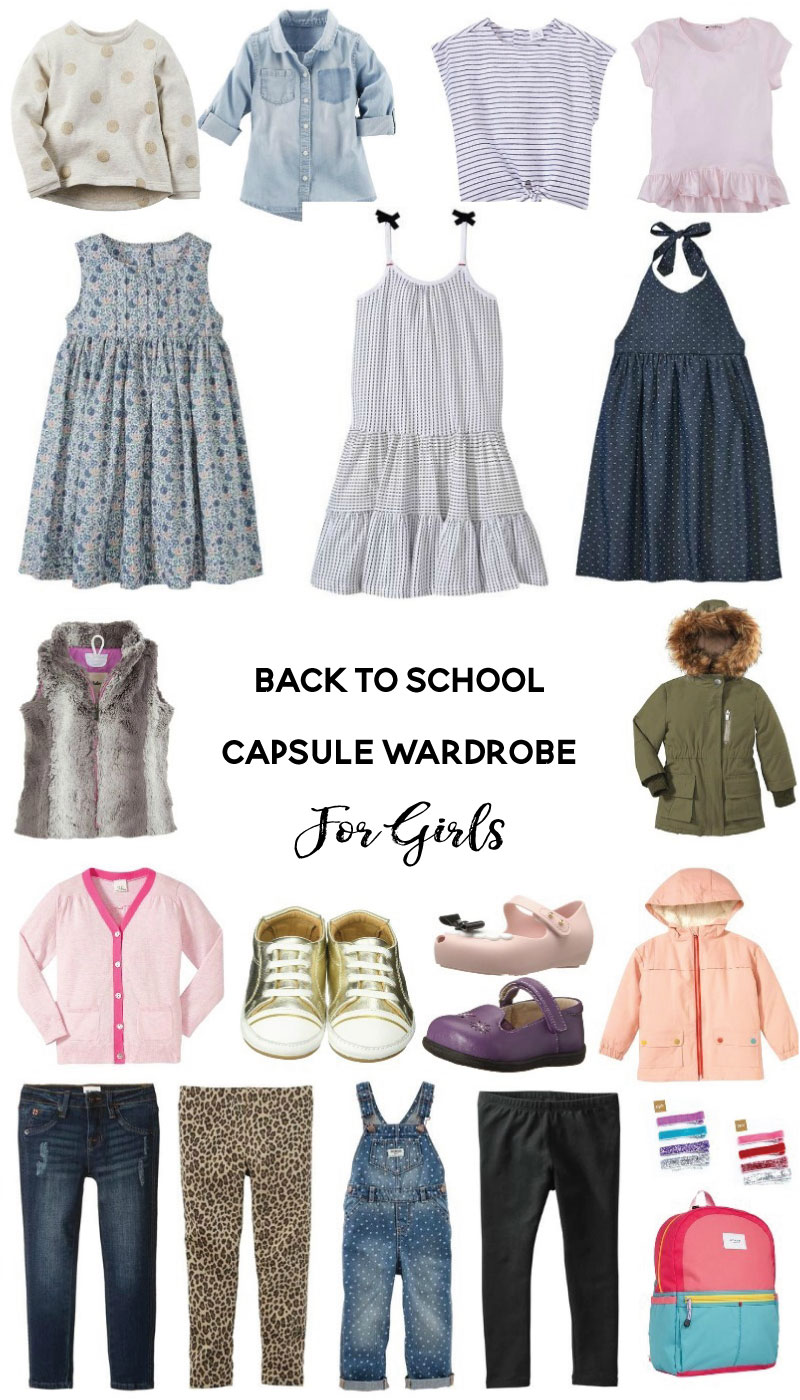 Back To School Capsule Wardrobe for Girls - Save money with Diapers.com coupon codes