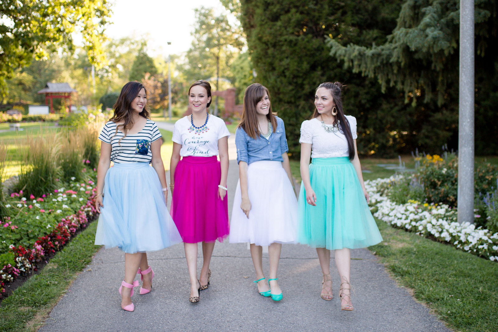 Utah fashion bloggers in tulle skirts