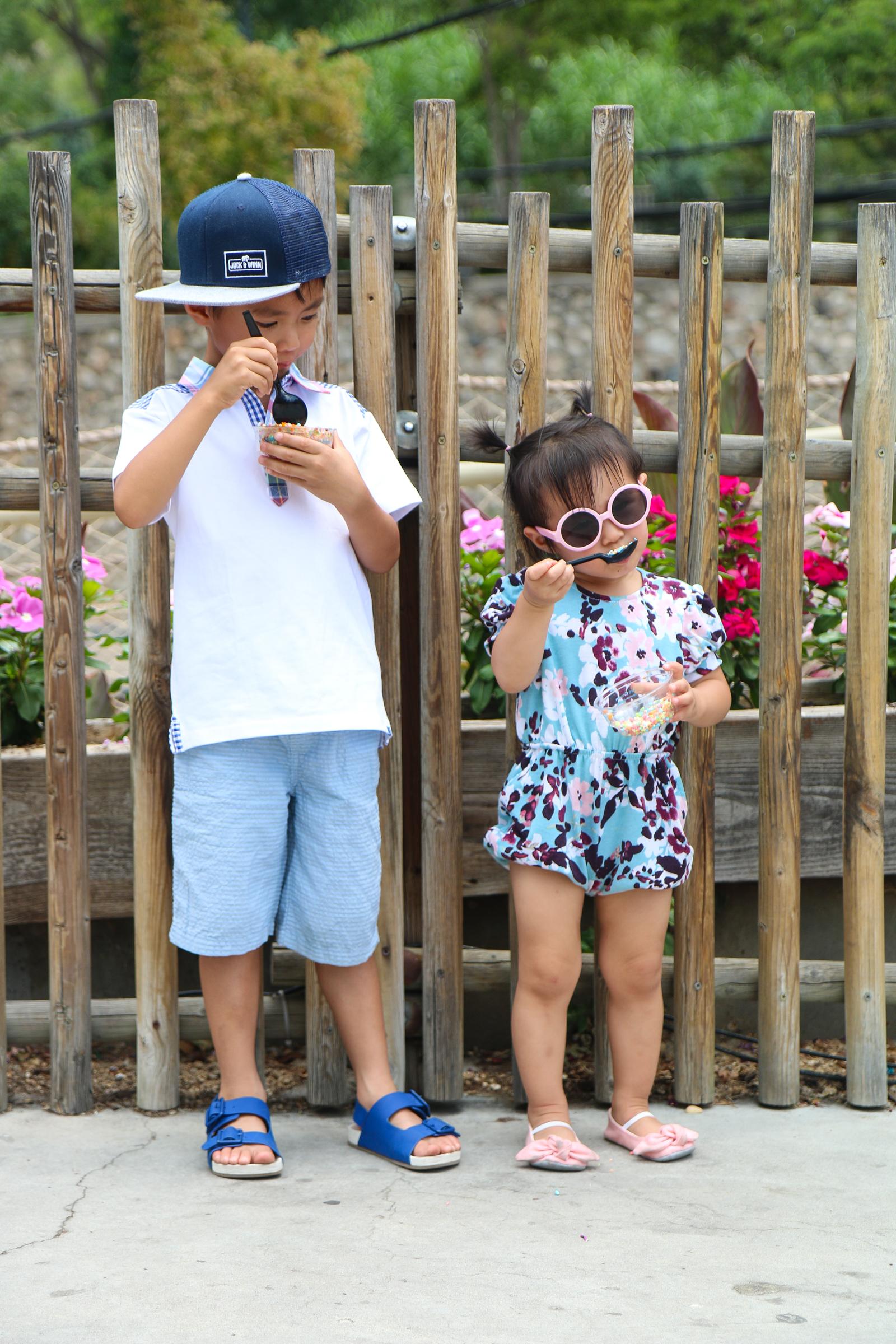 Kids eating Dippin Dots